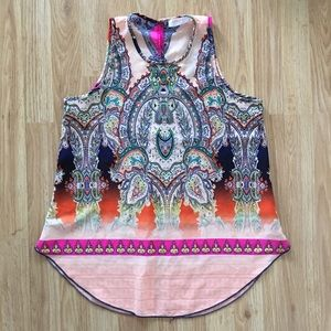 Renee C. Tucker paisley tank blouse size small